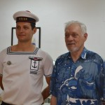Notre porte drapeaux Loic DUCHENE et son fils