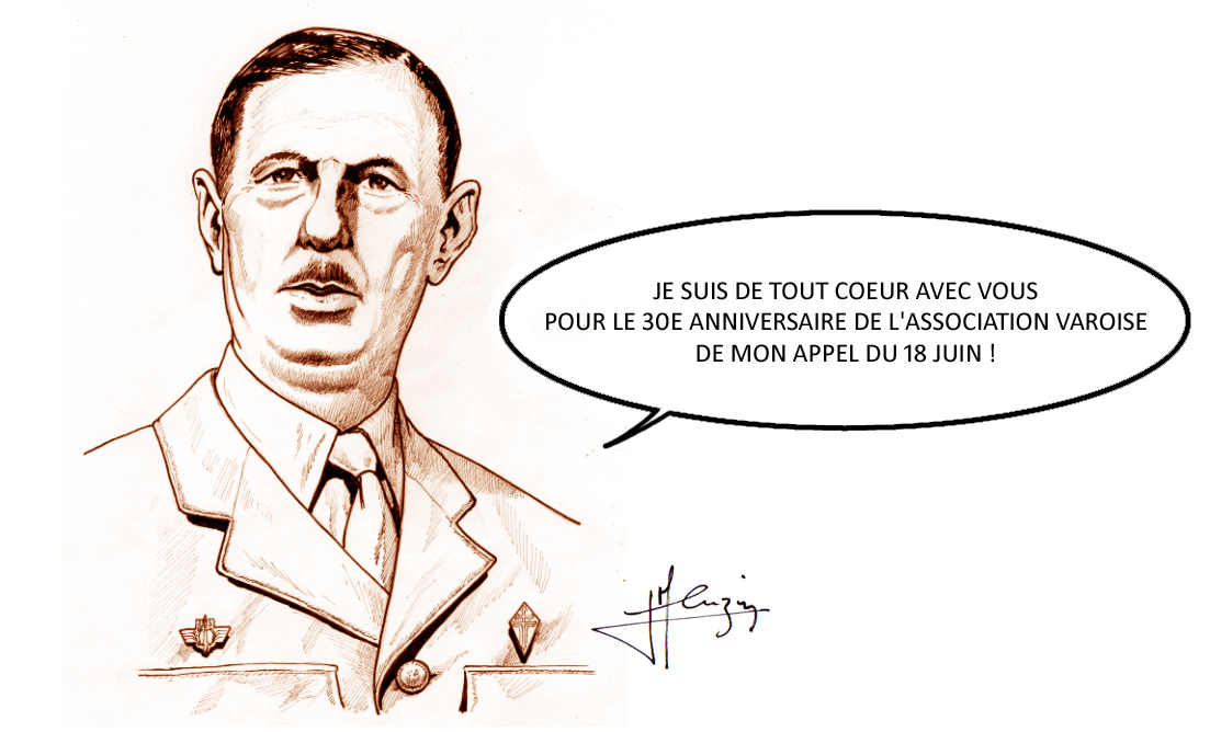 dessin general de gaulle association varoise 18 juin
