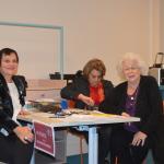 l'accueil avec    Mme Lamblart ,Mmme Douarin et Mme Boyer-Kempf