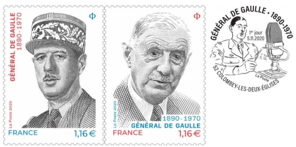 le-9-novembre-la-poste-emet-un-diptyque-de-timbres-pour-le-130e-anniversaire-de-la-naissance-du-general-de-gaulle-le-50e-anniversaire-de-sa-disparition-et-les-80-ans-de-l-appel-du-18-juin-35781
